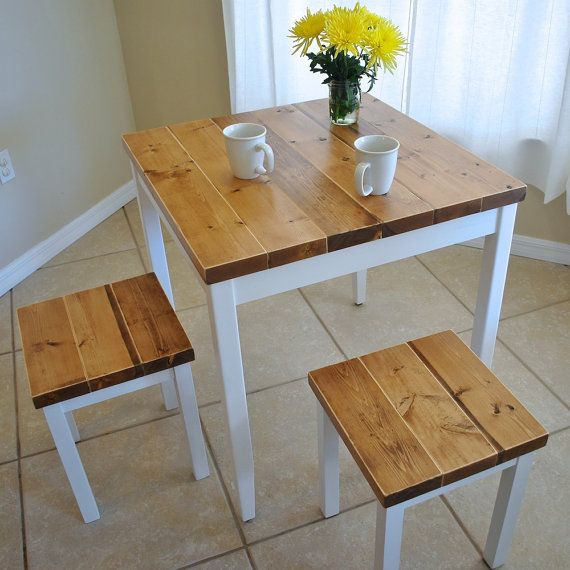 Modular small dining tables farmhouse breakfast table or dining table set with or without stools - lkpnrke