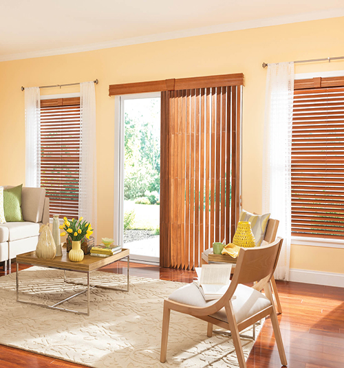New bali northern heights wood vertical blinds shown in bourbon uudbydz
