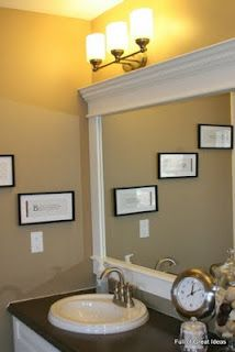 New bathroom mirror ideas framing bathroom mirror for $40 another upgrade for the parents tcabdug