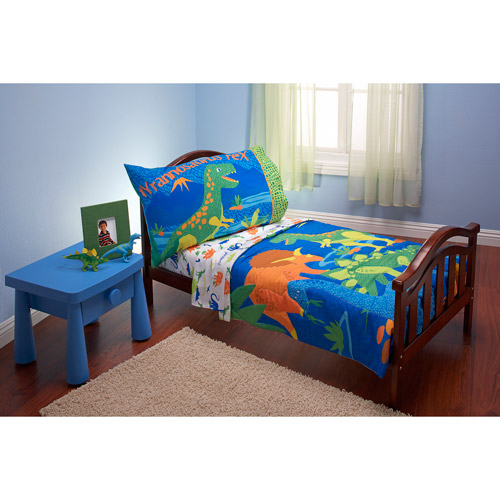 New everything for kids dinosaurs 3-piece toddler bedding set with bonus  matching pillow tjetbor