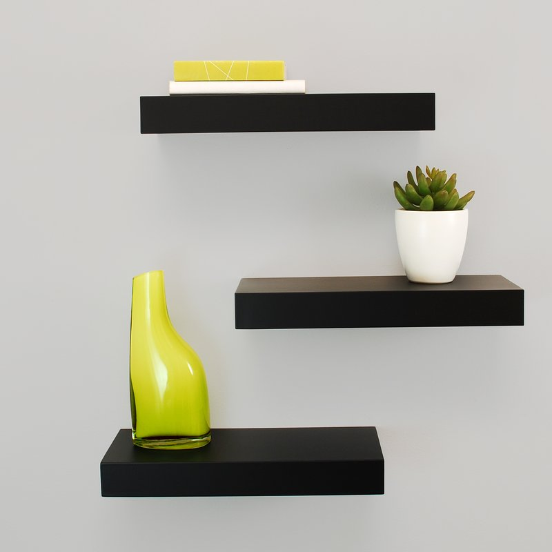 Floating wall shelves for smaller rooms