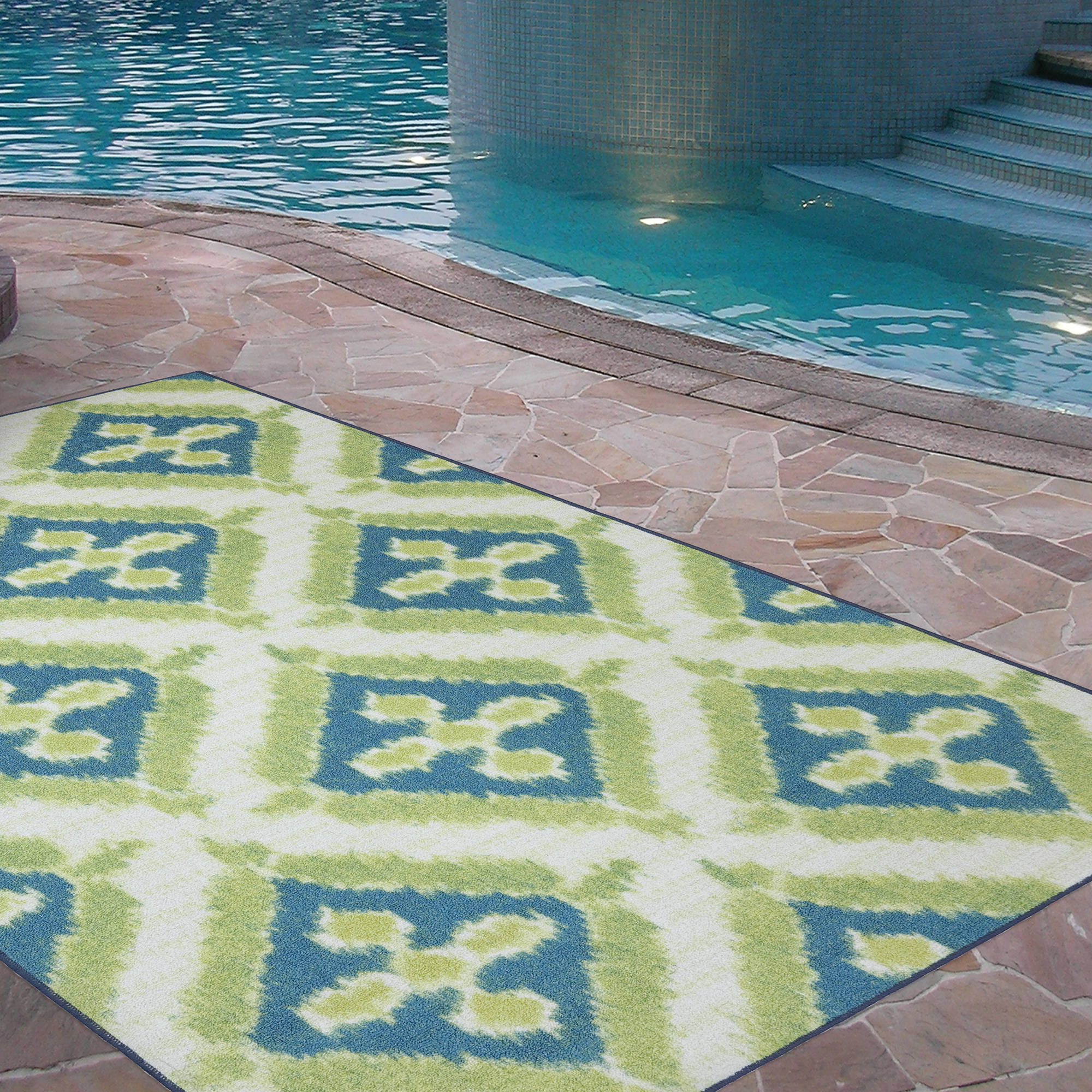 New indoor outdoor rugs mohawk home summer splash indoor/outdoor nylon rug, turquoise - walmart.com mqlmnjw