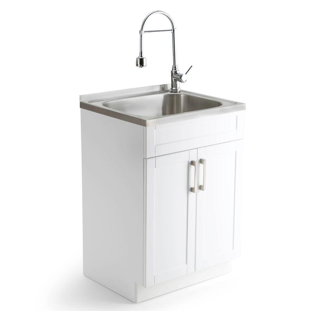 New laundry tubs hennessy 23.6 in. w x 19.7 in. d x 35.7 in. h stainless irywqtc
