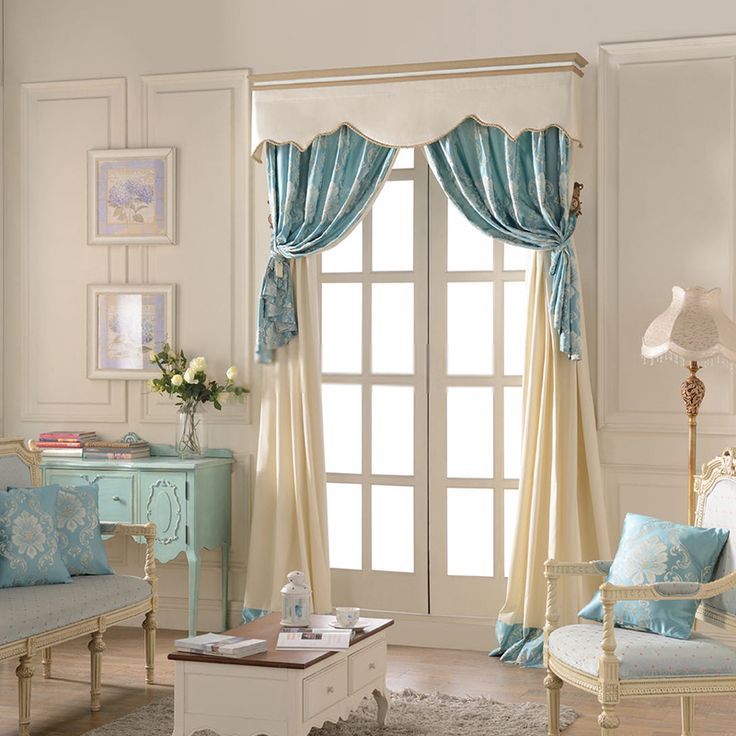 New luxury curtains french doors window treatment ~ stitching section european luxury curtain nczbuah