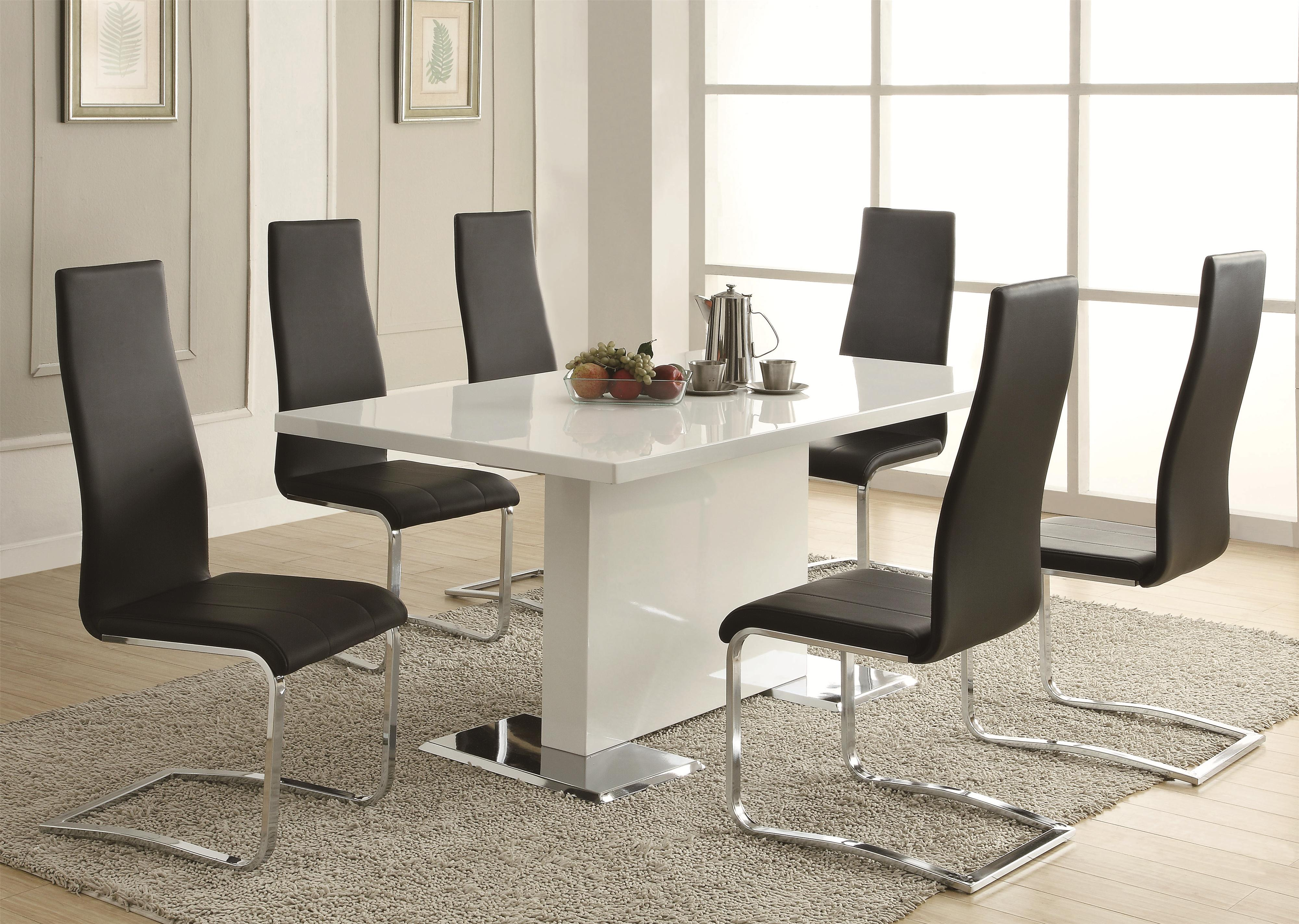 New modern dining room sets coaster modern dining contemporary dining room set with glass table -  coaster tdjgccc