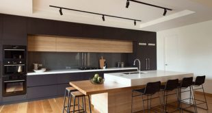 New modern kitchen designs mid-sized modern kitchen appliance - mid-sized modern galley kitchen idea  in melbourne fbafktk
