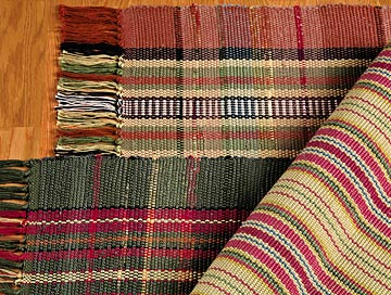 New reproduction striped cotton rugs cnzjycd