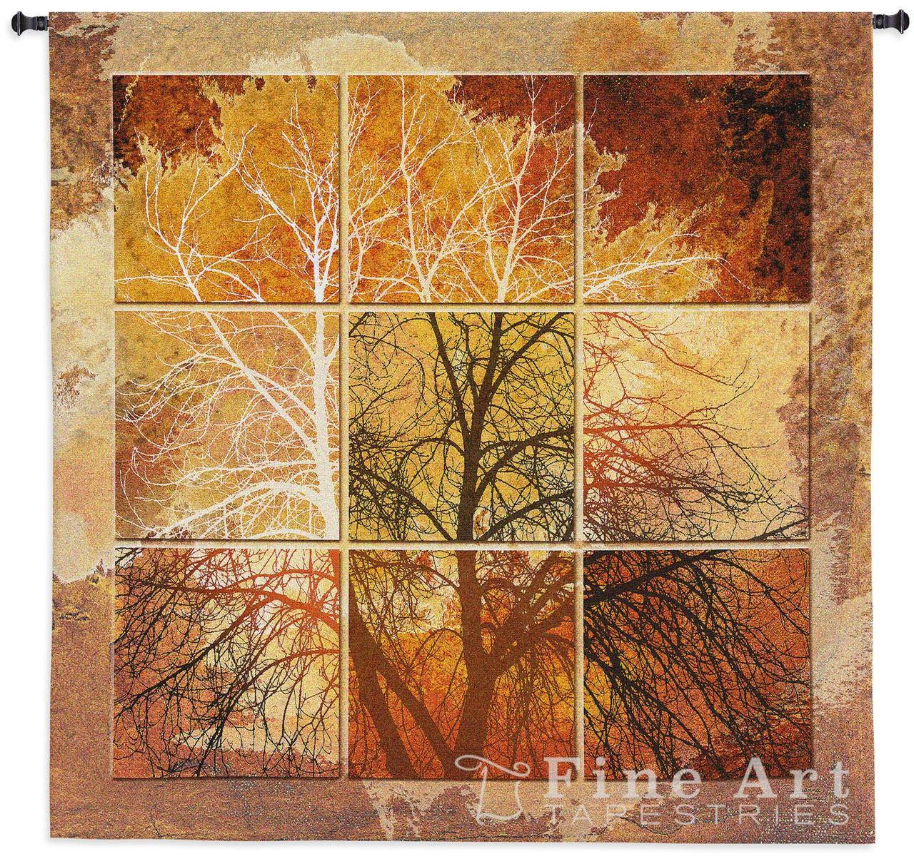 New tapestry wall hangings october light contemporary tapestry wall hanging - abstract tree picture,  h55 nrwenue