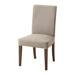 New upholstered dining chairs henriksdal chair, brown, nolhaga gray-beige tested for: 243 lb width: eirecni