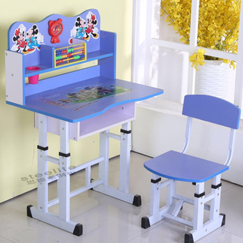 New used school furniture daycare cartoon picture kids study table and vlrpsrz