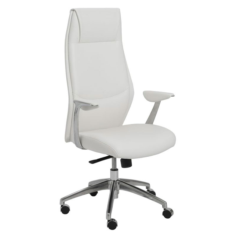 New white office chair creil modern high back office chair lmovdhd
