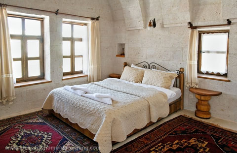 Nice bedroom rugs two hand made rugs are ideal for this bedroom which has stone walls. mindqkb