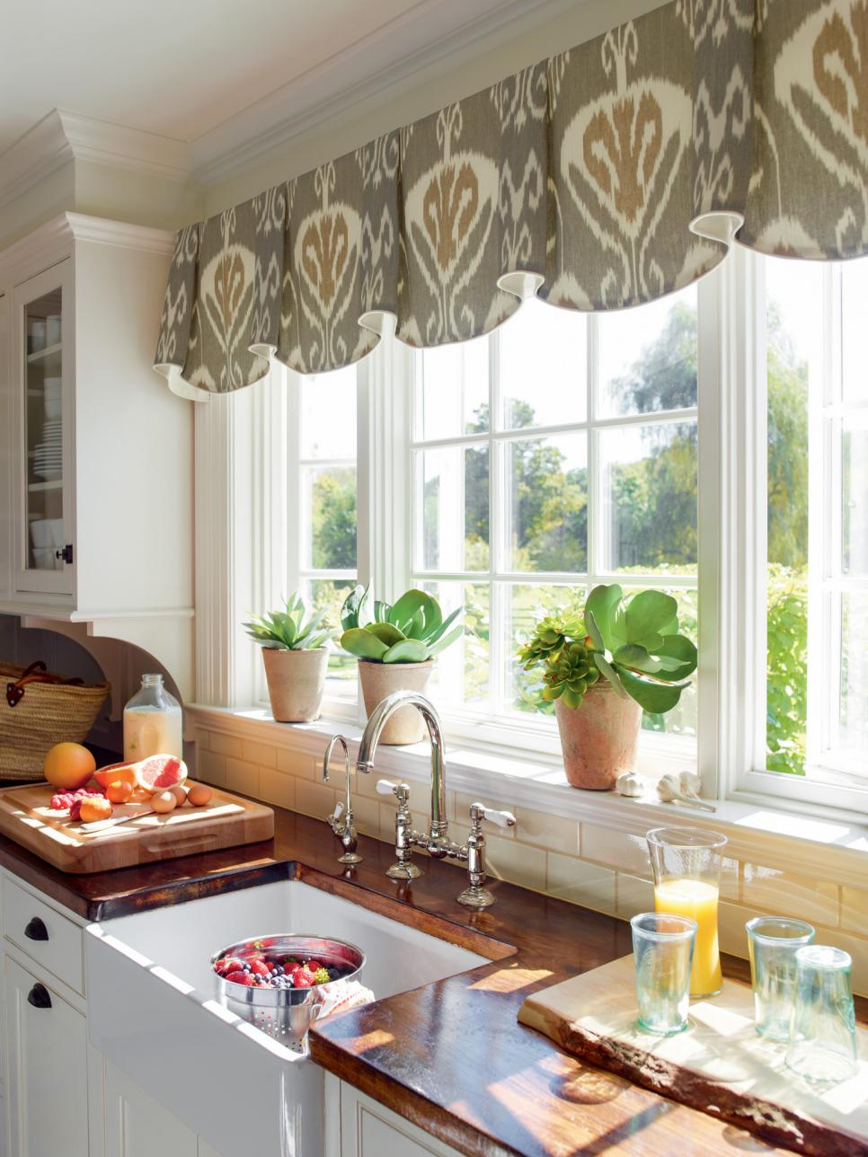 Nice kitchen window treatments coordinated charm. fabric-based window treatments ... fbiwpdl