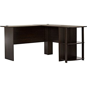 Photos of l shaped computer desk this item ameriwood home dakota l-shaped desk with bookshelves (espresso) pmnqzdl