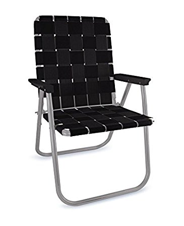Photos of lawn chair usa webbing chair (deluxe, black with black arms) csfokqt