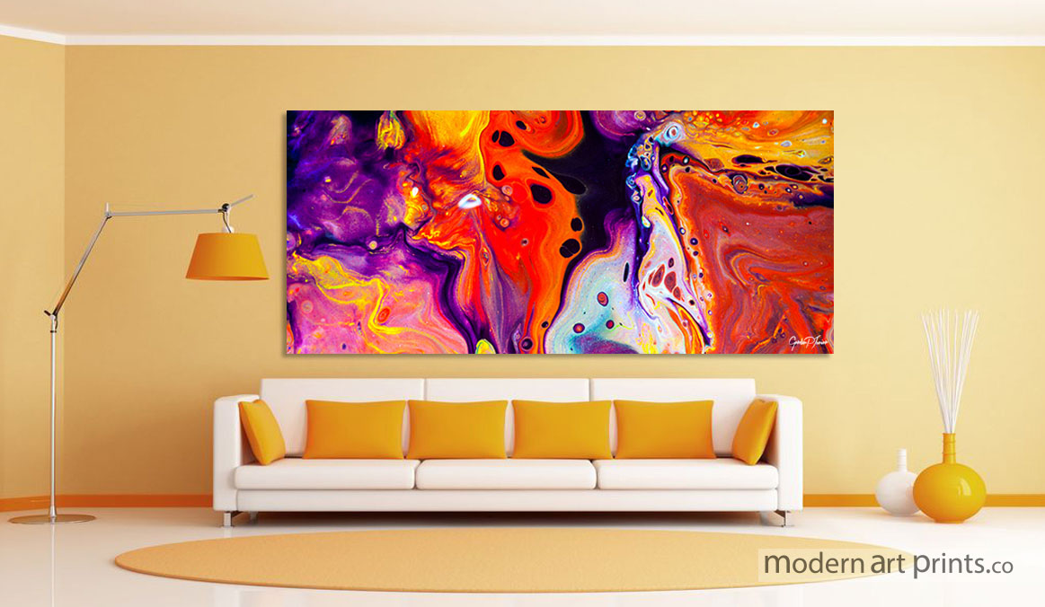 Photos of modern wall art ... living room wall art - abstract colorful painting - modern art prints aotbhge