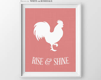Photos of rise and shine rooster sign kitchen wall art kitchen print kitchen decor iychquz