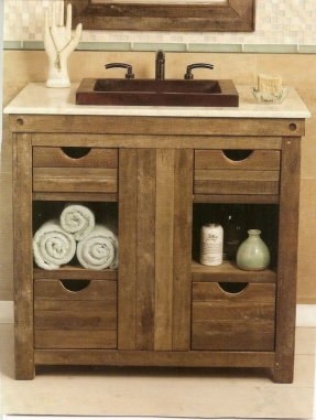 Photos of rustic bathroom vanities native trails chardonnay reclaimed wood and rustic bathroom vanity--would do lvffodp