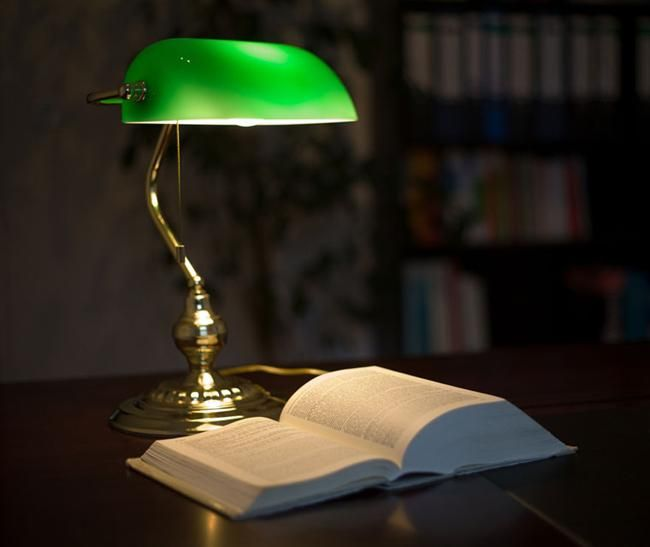 Make your desk nice with a bankers lamp