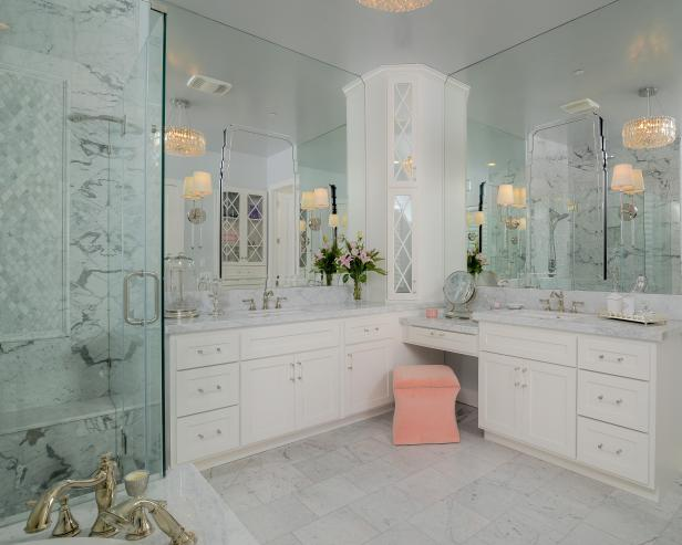 Pictures of bathroom flooring white spa bathroom with built-in vanity ksjcrqr