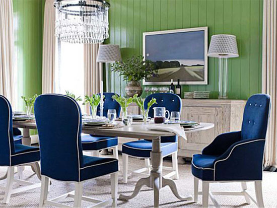 Pictures of blue and white upholstered dining room chairs mslakzc