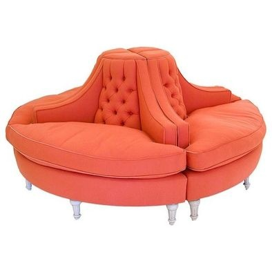 Pictures of coral pink tufted round sofa by stephen schubel via . epoch style round jfkztpo