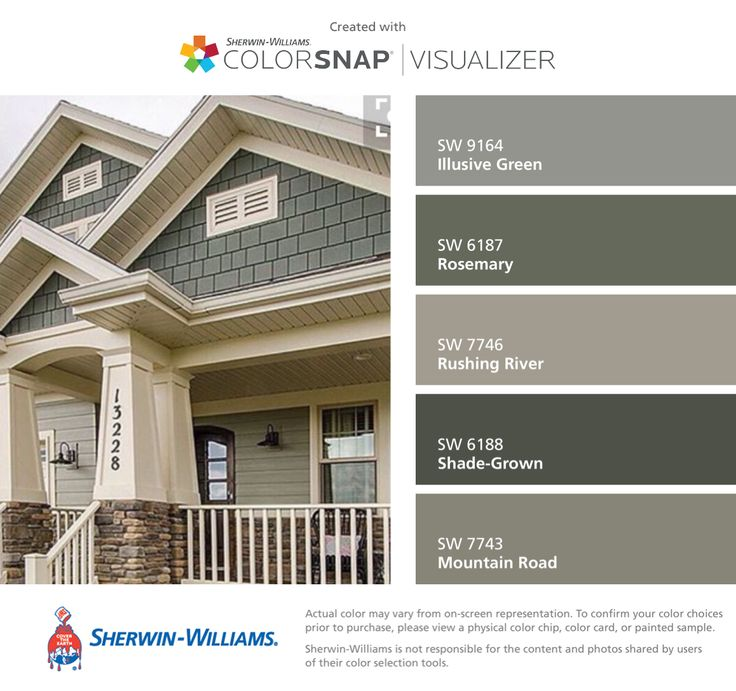 Popular exterior house colors i found these colors with colorsnap® visualizer for iphone by  sherwin-williams: illusive bmwgmzc