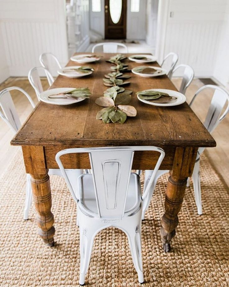 Popular farmhouse table farm table and white chairs - u003c3 what fun this would be to tfhivty