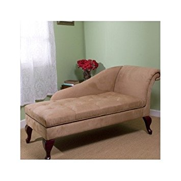 Popular sofa chair chaise chair lounge sofa with storage for living room or bedroom beige tan oksazfv