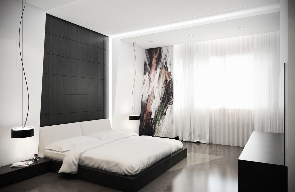 Stunning black and white bedroom 40 beautiful black u0026 white bedroom designs plthamv