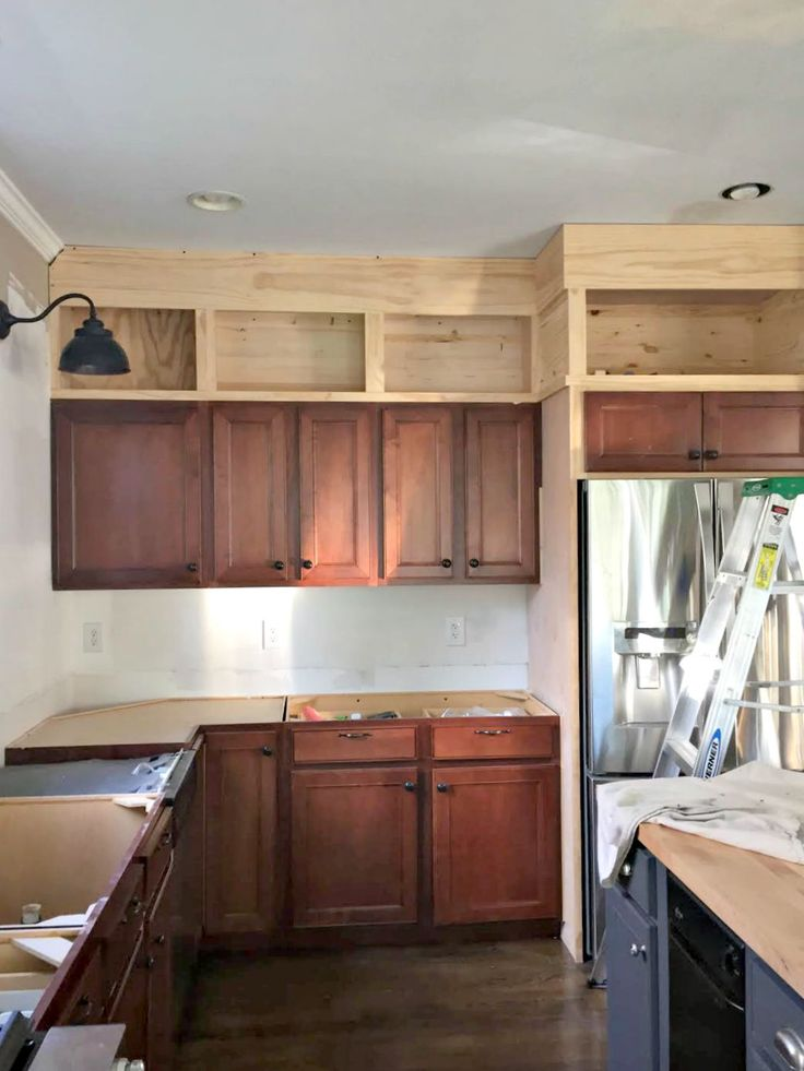 Stunning diy kitchen cabinets building cabinets up to the ceiling rmzgaih