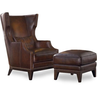 Stunning leather chairs classic espresso brown wingback leather chair u0026 ottoman - picasso plcgoer