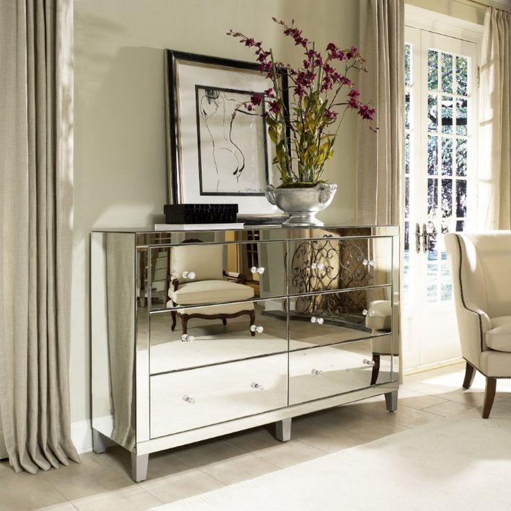 Mirror furniture for the living room