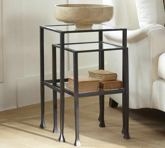 Stunning nesting tables tanner nesting side tables - bronze finish lycvaeg