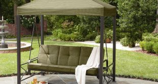 Stunning patio swings garden oasis 3-person gazebo swing *limited availability* lysogaz