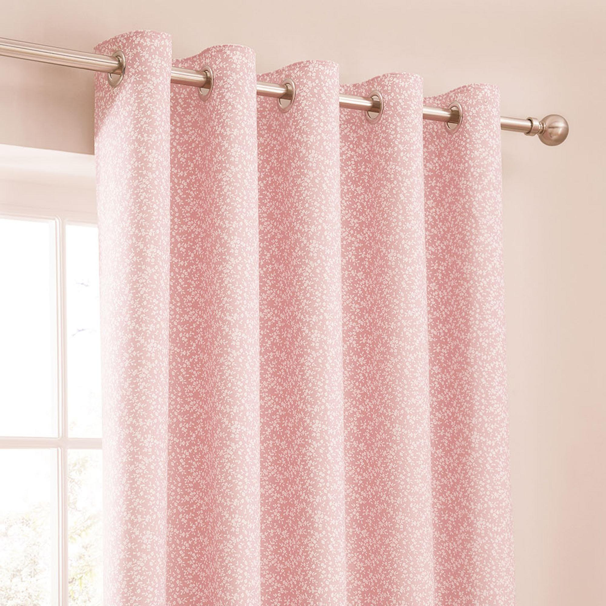 Stunning pink curtains annie pink thermal eyelet curtains | dunelm wlxtymj