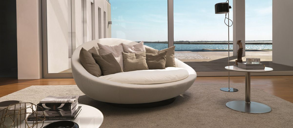 Round sofa for the living room