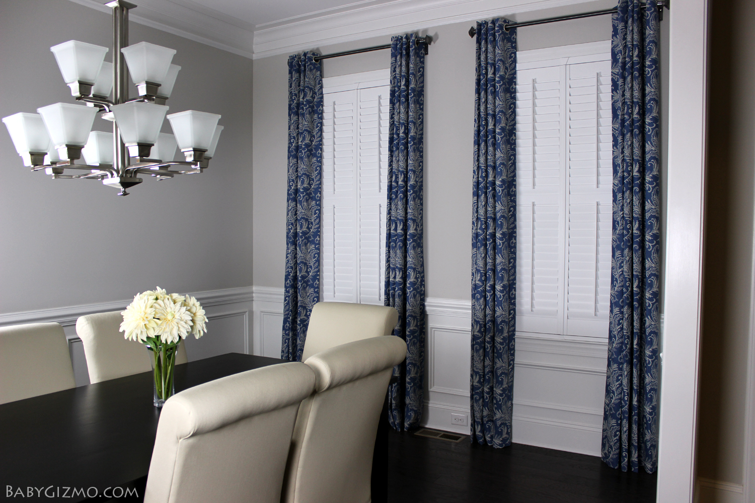 Stunning shutter blinds customer hollie outfitted her home with blinds.com simplicity wood shutters  in white ygscrja