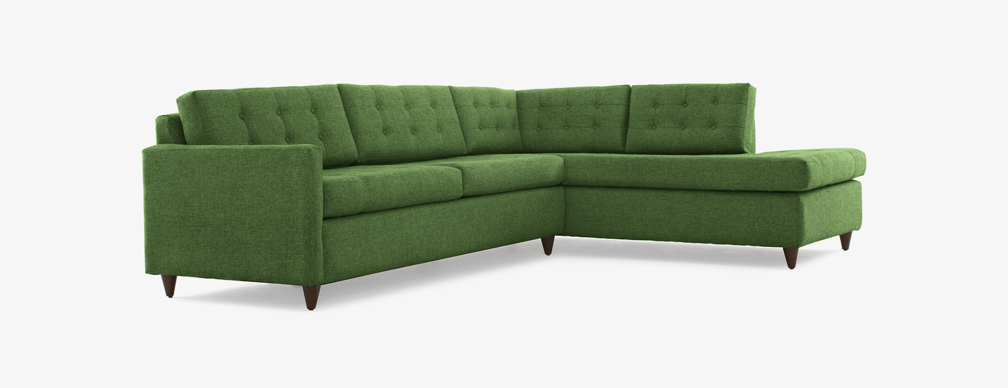 Stunning sleeper sectional shown in key largo kelly green fabric crmahbz
