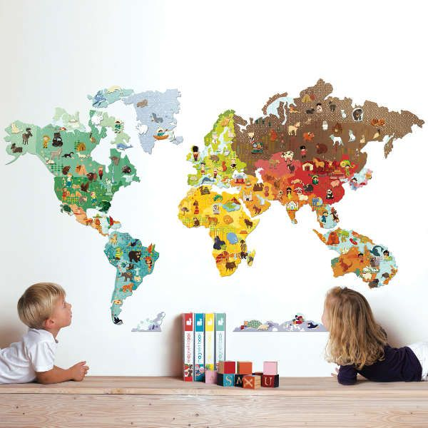 Stunning wall stickers for kids magnetic world map wall sticker with 101 magnetic animals. what a great way wuqzspc