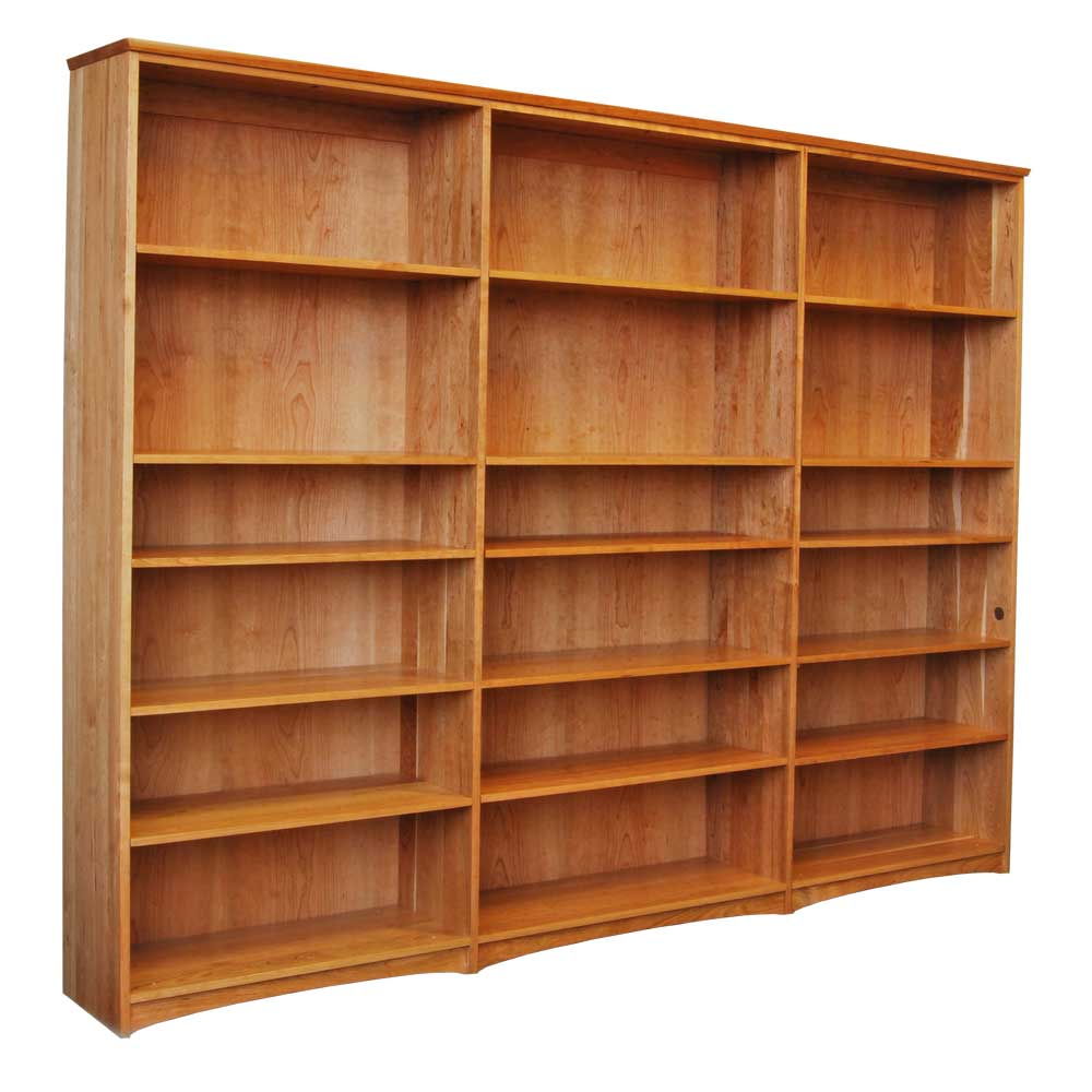 Stunning wood bookcases triple cherry bookcase mwjeqmx