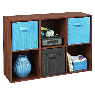 Stylish closetmaid cubeicals 6-cube organizer shelf - dark cherry cbynzfr