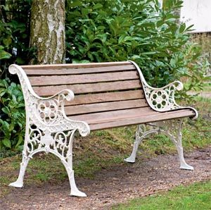 Stylish garden benches restored edwardian garden bench with wooden slats and cast iron frame iyrftfm