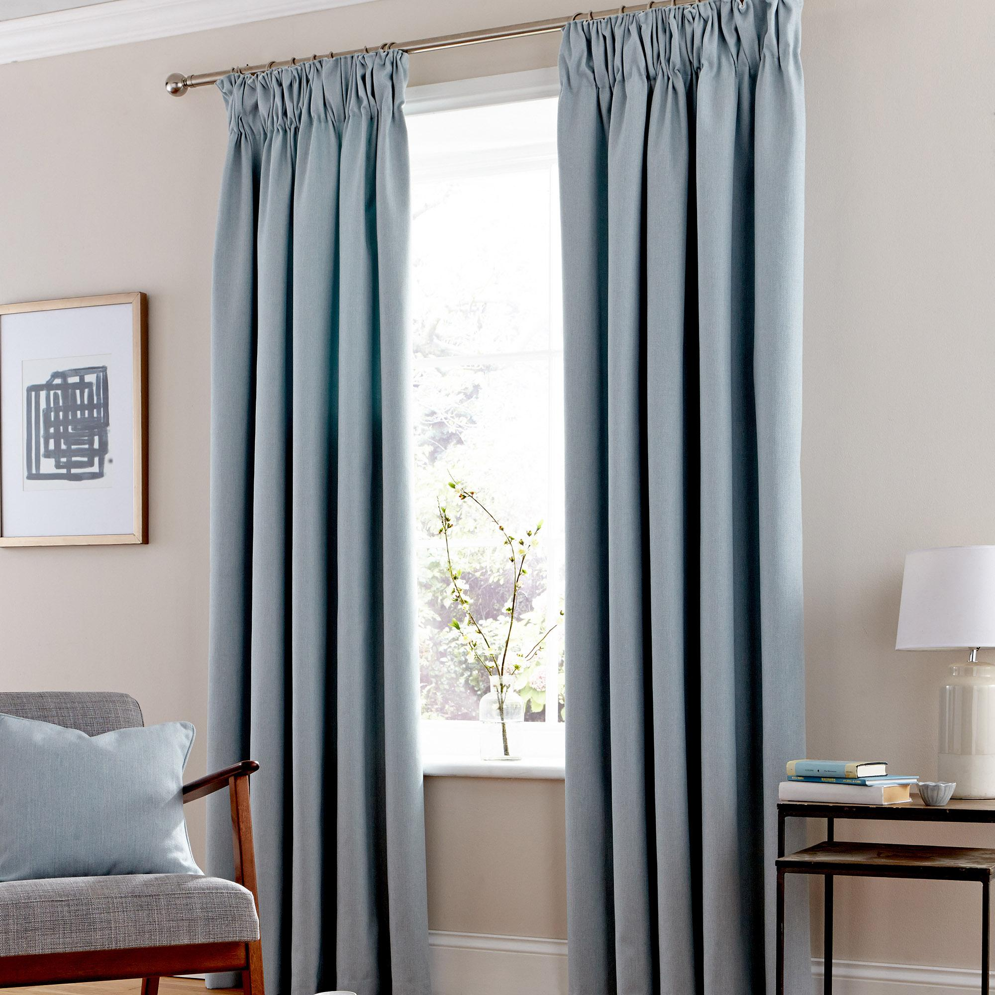 Stylish hayden duck-egg lined pencil pleat curtains bqyesfn