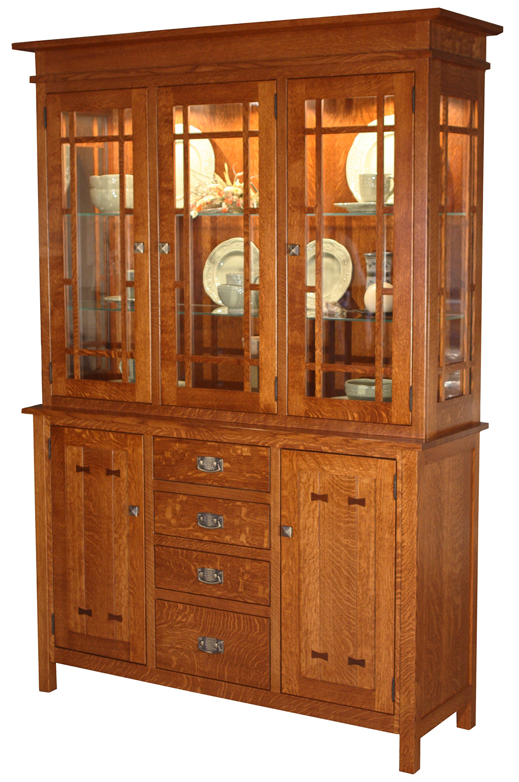 Stylish mission style furniture in stock; the gettysburg three door hutch and buffet wdlvpoe