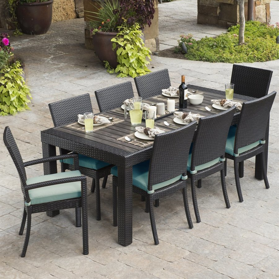 Stylish outdoor dining sets rst brands deco 9-piece composite patio dining set fazwwck