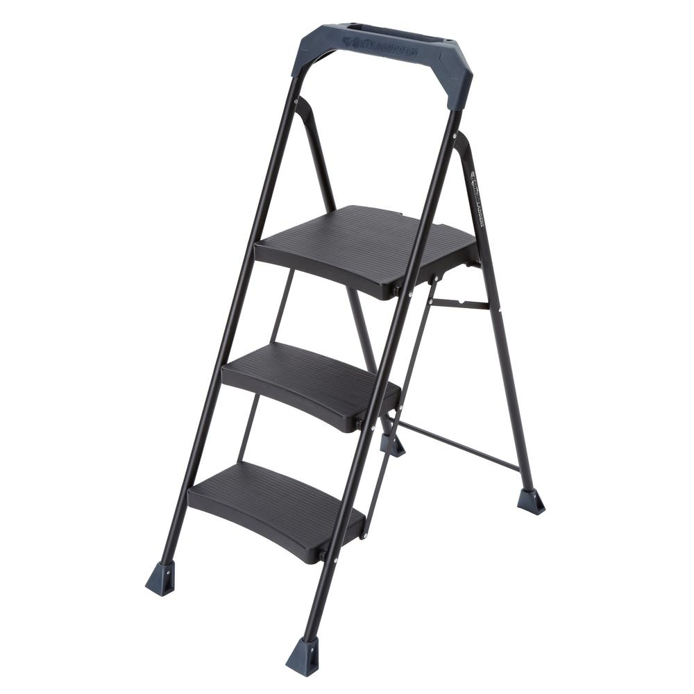 Trendy 3-step steel step stool with 250 lb. load capacity type i duty rating dcfcjji