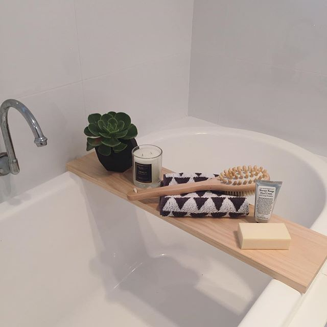 Trendy bathroom caddy my big boy chopped a piece of timber for me and ta-dah! practically lrobfqv
