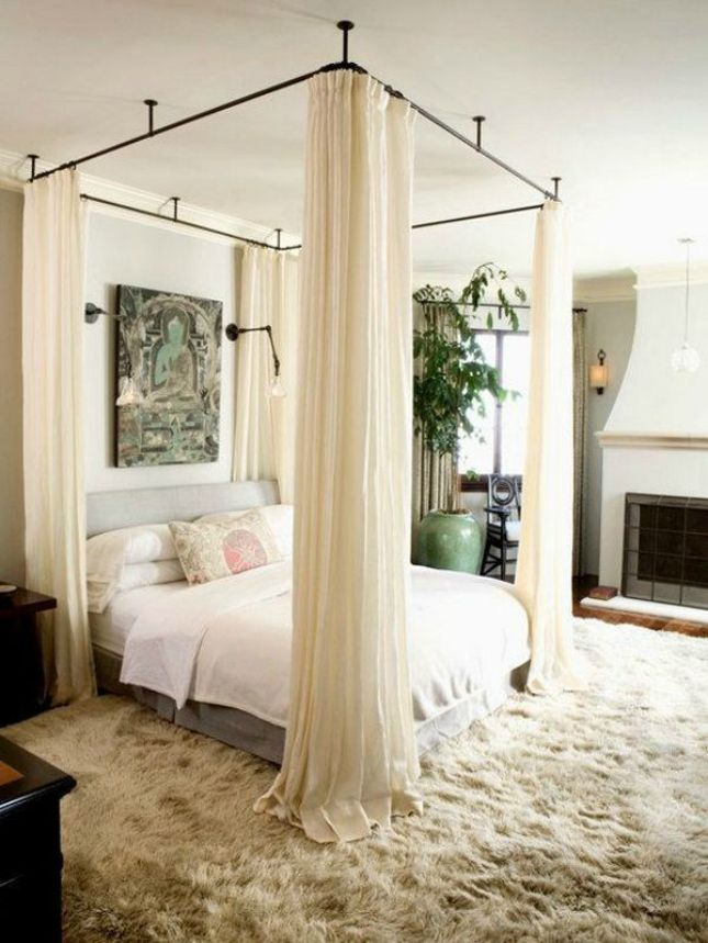 Trendy canopy beds diy canopy bed, easy to remove and clean panels tiembwn