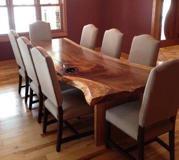 Trendy dining room table live edge dining room tables walnut_535x600 love the table, not the chairs. fovfloa